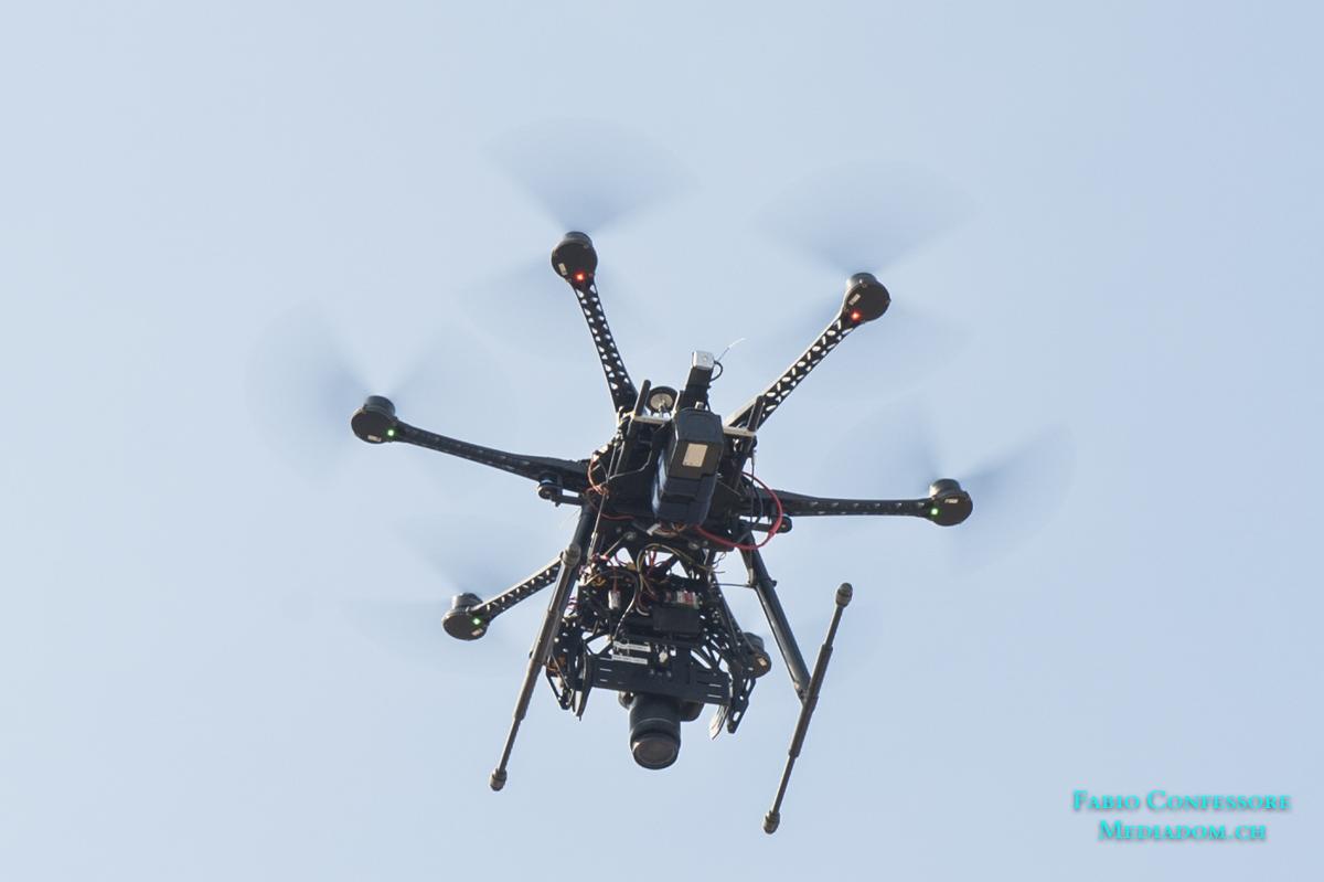 Unsere Drohne im Einsatz